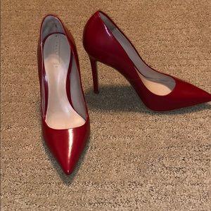 Gorgeous Red 8.5 Aldo Leather Heels
